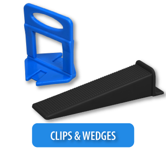 tile leveling system clips and wedges