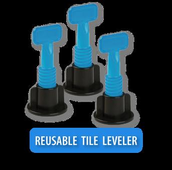 tile leveling system reusables
